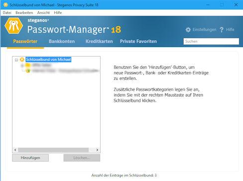Steganos Passwort Manager 18