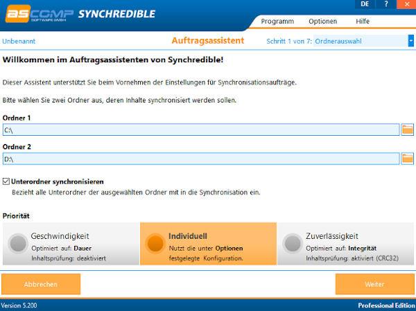Synchredible - Ordner und Laufwerke synchronisieren