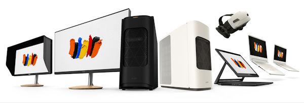 Die Acer Concept D Serie : Notebooks und PCs mit viel Rechenleistung für Grafiker und Designer