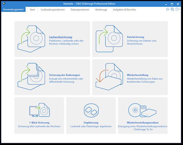 O&O DiskImage - umfangreiche Datensicherung mit vielen Funktionen zu einem fairen Preis